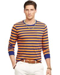 Polo Ralph Lauren Striped Jersey Crewneck Shirt - Lyst