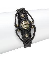 Dannijo Pyrite Silk Cord Bracelet - Lyst