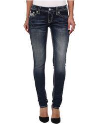 Rock Revival Kayla S Sequin Trimmed Skinny Jean - Lyst