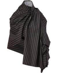 Aganovich - Striped Blanket Coat - Lyst