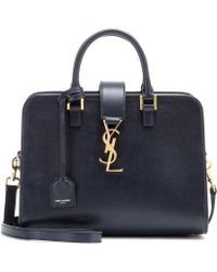 Saint Laurent Baby Cabas Monogram Leather Tote - Lyst