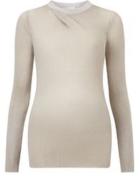 3.1 Phillip Lim | Circular Knit Draped Neck Top | Lyst
