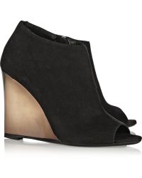 Burberry Prorsum - Suede Wedge Boots - Lyst