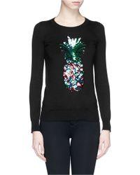Markus Lupfer Rainbow Pineapple Sequin Emma Sweater - Lyst