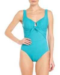 Miraclesuit Aquamarine Fashion Figures Sandra D One-piece Swimsuit - Lyst