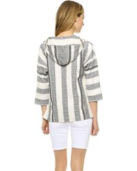 Twelfth Street Cynthia Vincent - Hooded Baja Pullover - Tan - Lyst