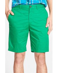 Original Penguin - Slim Fit Cotton Shorts - Lyst