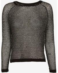 Mason by Michelle Mason Open Back Lurex Sweater - Lyst