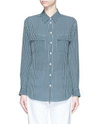 Equipment | 'signature' Stripe Silk Shirt | Lyst