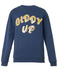 House of Holland Giddy Up-Embellished Sweatshirt - Lyst