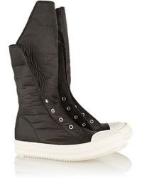 Rick Owens Ramones Coated Canvas Boots - Lyst