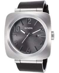 Nixon Mens The Volta Solar Black Genuine Leather and Dial - Lyst
