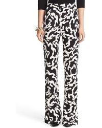 Diane von Furstenberg Elena Silk Jersey Wide Leg Pant - Lyst