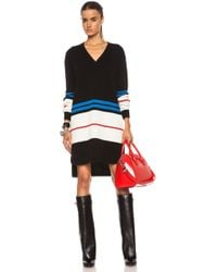 Givenchy V-Neck Sweater Wool Blend Dress - Lyst