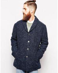 Levi's Indigo Twill Wool Coat - Lyst