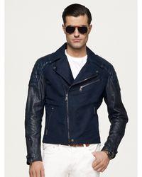 Ralph Lauren Black Label Velocity Biker Jacket - Lyst