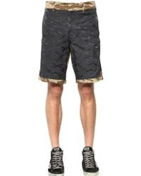 Golden Goose Deluxe Brand Camouflage Cotton Shorts gray - Lyst