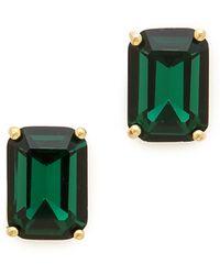 Kate Spade - Emerald Cut Stud Earrings - Emerald - Lyst