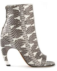 Givenchy Snakeskin Bootie - Lyst