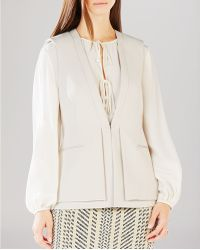 BCBGMAXAZRIA Eddie Double Layer Vest - Natural