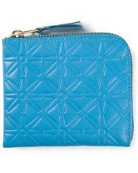 Comme Des Garçons Embossed Zipped Wallet - Lyst