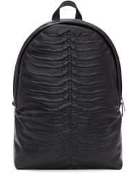 Alexander McQueen | Black Embossed Rib Cage Backpack | Lyst