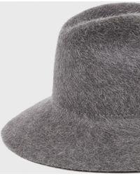 Ryan Roche Fur Felted Hat gray - Lyst