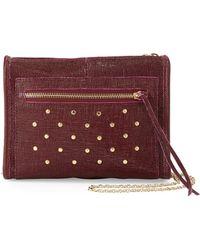 Lauren Merkin - Cece Mini Studded Leather Evening Clutch Bag - Lyst