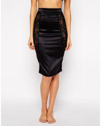 Bluebella Desire Slip Skirt - Black