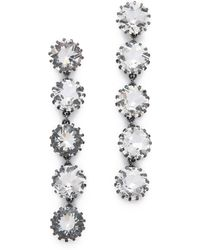 Sam Edelman - 5 Stone Linear Earrings - Lyst
