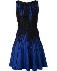 Oscar de la Renta Bateau Neck Flounce Bottom Dress - Lyst