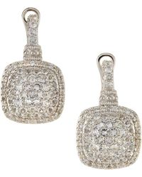 Judith Ripka - Sterling Silver & White Sapphire Dangle & Drop Earrings - Lyst