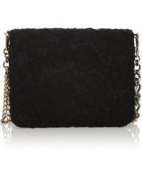 Dolce & Gabbana Karlie Small Embellished Lace and Satin Shoulder Bag - Lyst