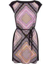Oasis Tile Print Shift Dress - Lyst