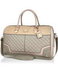 River Island Grey Quilted Weekend Bag - Lyst