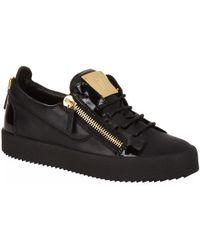 Giuseppe Zanotti | Low-top Patent Panel Sneaker | Lyst