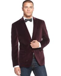 Sean John Solid Velvet Two-button Blazer - Lyst