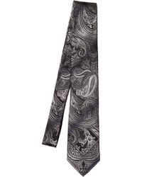 Etro 8Cm Paisley Silk Jacquard Tie black - Lyst