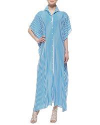 Michael Kors Georgette Striped Kimono Kaftan - Lyst