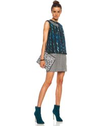 Kenzo Distortion Print Poly Dress - Lyst