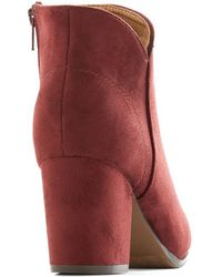 Shoe Magnate Inc - Sangria Celebration Bootie - Lyst