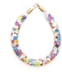 Peppercotton Rainbow Swarovski Crystal Bracelet - Multicolour