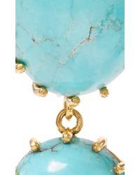 Renee Lewis Antique Persian Turquoise Earrings - Blue
