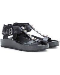 Balenciaga Classic T-Bar Leather Sandals - Lyst