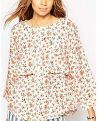 Native Rose | Oversized Top In Bright Ditsy | Lyst