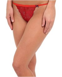 BCBGeneration Red T Thong - Lyst