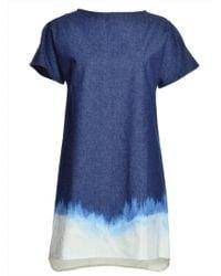 Florence Bridge - Jemima Denim Dip Dye Shift Dress - Lyst