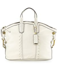 orYANY Cassie Convertible Leather Tote Bag white - Lyst