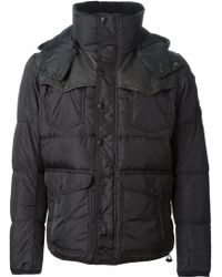 Diesel Panelled Padded Jacket - Lyst