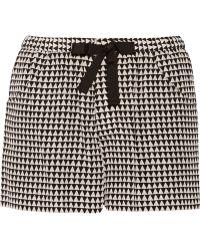 Sea Printed Silk Shorts - Lyst